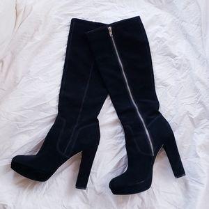 Michael Kors Suede Knee High Heeled Boots